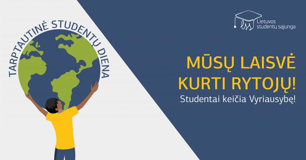 Tarptautinės studentų dienos proga studentai vienai dienai keičia LR Vyriausybę
